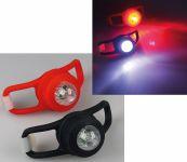 LED Leuchten 2-fach Set weiß und rot - Sicherheitslicht für Jogger, Schulranzen, Fahrrad