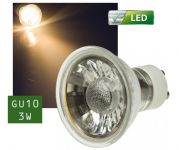 LED-Spot GU10 COB, 3W, 250 Lumen, warmweiß, Energieeffizienz A+