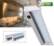 LED Unterbauleuchte 35 cm schwenkbar Alu 4 W / 320 Lumen, 230V Direktanschluss