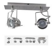 Deckenleuchte Sonda 2-fach Spotlight, dreh- und schwenkbar, satinchrom, GU10