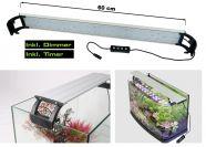LED Aufsatzleuchte Prisma für Aquarien 50 - 65 cm - Dimmbar & Zeitschaltuhr 16 Watt