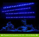 AQUARIUM MONDLICHT, LED LICHTLEISTE 4 x 30 CM FLEXI-SLIM BLAU KOMPLETTSET