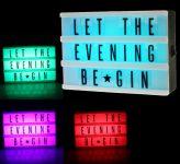 LED Lightbox RGB Farbwechsel inkl. Buchstabenset