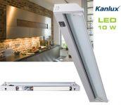 LED Unterbauleuchte 58 cm schwenkbar Alu 10 W / 970 Lumen, 230V Direktanschluss