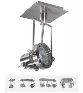 Deckenleuchte Sonda 1-fach Spotlight, dreh- und schwenkbar, satinchrom, GU10