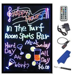 LED Memoboard 40 x 30 cm Multicolor RGB, inkl. Fernbedienung, Alu